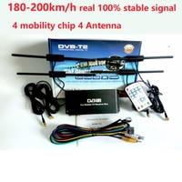 Free Transmission Of 180 200 Km / H 4 Antenna DVB T2 Car 4 Digital Mobile Chip Radio HD 1080 P TV Receiver DVB T2 Car