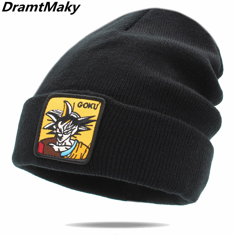 Dropshipping Anime Dragon Ball winte hat for Men Women Knitted Winter Hat   Skullies     Beanies   Bonnet Unisex Cap fashion gorro touca