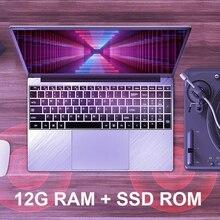 15.6 inç 12G RAM 128G/256G/512G/1TB SSD ile 1920*1080 IPS ekran parmak izi tanıma arkadan aydınlatmalı klavye Laptop
