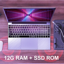 Laptop 15.6 inch Notebook Computer 12G RAM 128G/256G/512G/1TB SSD ROM IPS Screen Gaming Laptop With Windows 10 OS Ultrabook