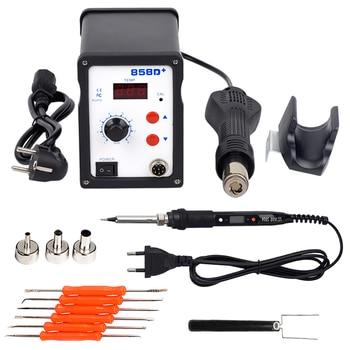 цена на WMORE Hot air gun 858D 220V 110V 700W BGA Welding rework solder station SMD soldering LED Digital station solder repair tool kit