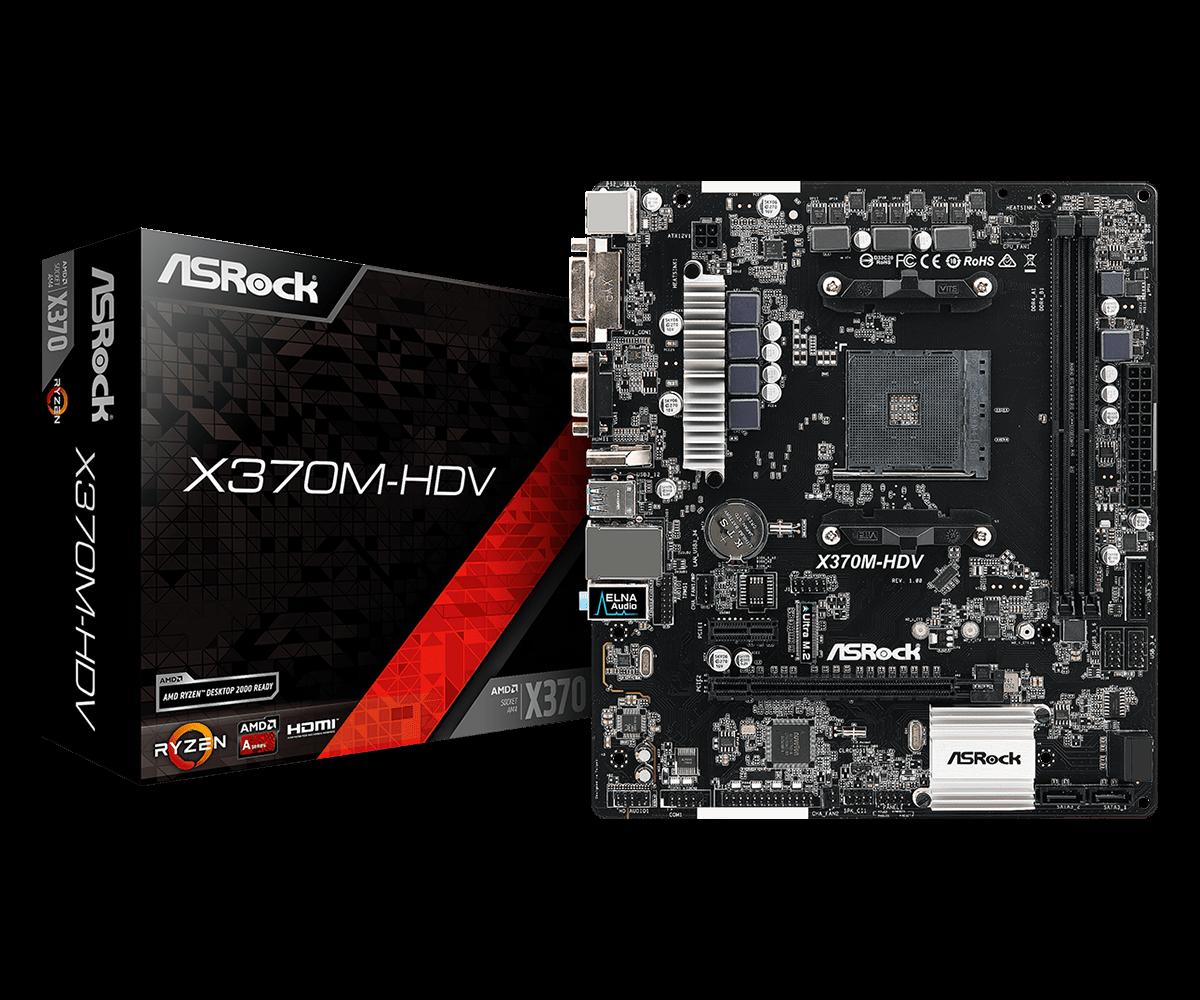 Asrock X370m Hdv Motherboard Ryzen Amd X370 Am4 Desktop Micro Atx Motherboard Motherboards Aliexpress