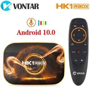 Image 1 - 2020 vontar hk1 rbox r1 caixa de tv android 10 4g 64gb rockchip rk3318 1080p 4k google play hk1 caixa jogo superior tvbox android 10.0