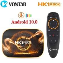 VONTAR TV Box HK1 RBOX R1, decodificador de señal con Android 10, 4GB, 64GB, Rockchip RK3318, 2020 p, 4K, Google Play, HK1, Android 1080, 10,0