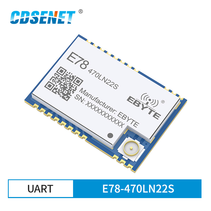 ASR6501 SoC LoRa 22dBm Wireless Transceiver LoRaWAN SPI E78-470LN22S 128KB SMD IPEX Stamp Hole Connector TCXO RF Module