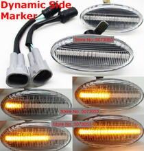 Luz de led dinâmica seta 2 peças, luz sequencial blinker para mazda 3 mazda6 mazda 2 5 mpv
