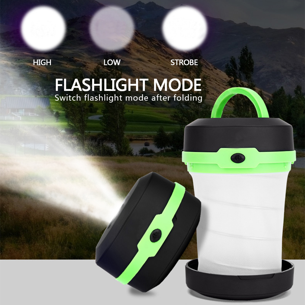 Portable Camping <font><b>Light</b></font> Tent <font><b>Light</b></font> Multifunction Retractable Camping Lamp Outdoor Lantern <font><b>LED</b></font> Flashlight Pocket <font><b>Torch</b></font> AA Battery image