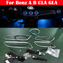 12 Color Lamp For Mercedes Benz A/B/CLA/GLA W176 W246 W117 W156 Car LED Ambient Light Kit Dashboard Strips Door Neon Decorative