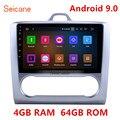 Seicane 10 1 дюймов Android 9 0 GPS автомобильное радио для 2004 2005 2006 2007-2011 Ford Focus 2 четырехъядерный/Восьмиядерный WiFi мультимедийный проигрыватель