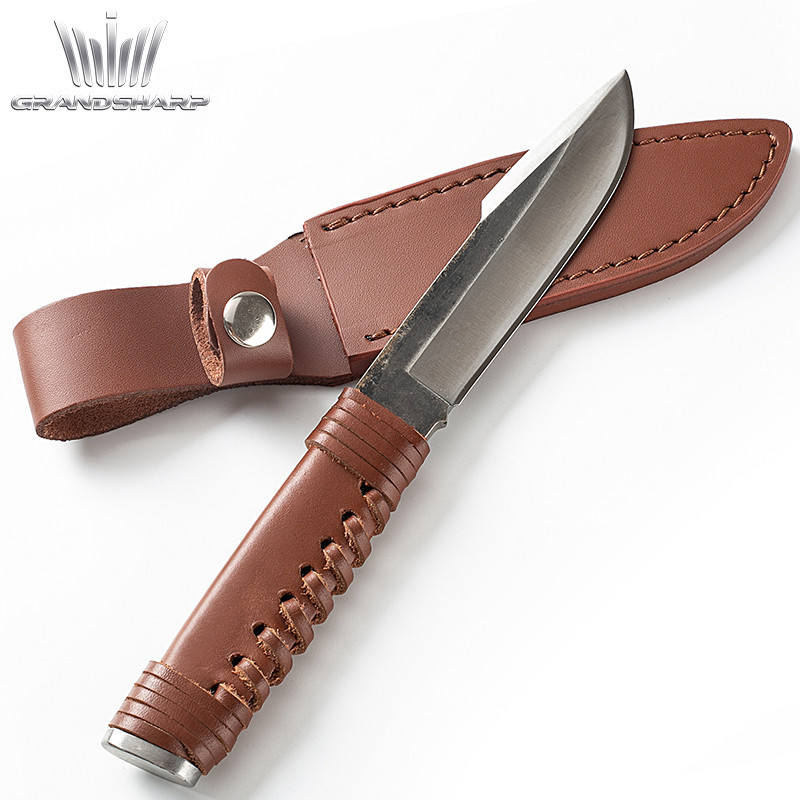Hand Forged Hunting Knife Fixed Blade Bowie Knife Hand Tool Camping Outdoor Survival Tactical Knives Multi Tool Stainless Steel image