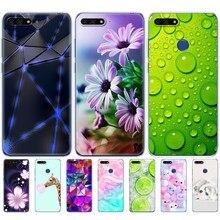 Huawei y6 2018 silicone caso protetor 5.7 polegada Atu-L21 capa protetora para huaweiy6 prime 2018 volta capa protetora macia tpu