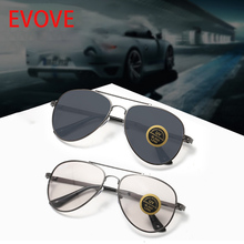 Evove Photochromic Glass Glasses Men Women Vintage Aviation Sunglasses