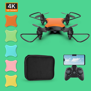 Smart Mini Drone With HD 4K 720P Camera Voice control Replaceable color cover RC Foldable Quadcopter Dron 4k Gesture photo image