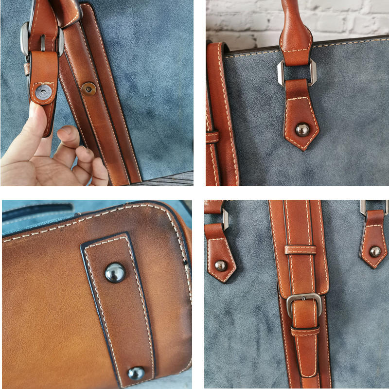 2019 Famous Brand Genuine Leather Women Handbag Large Capacity Women Bags Luxury Designer Vintage Ladies Shoulder Bags Totes Mac 3
