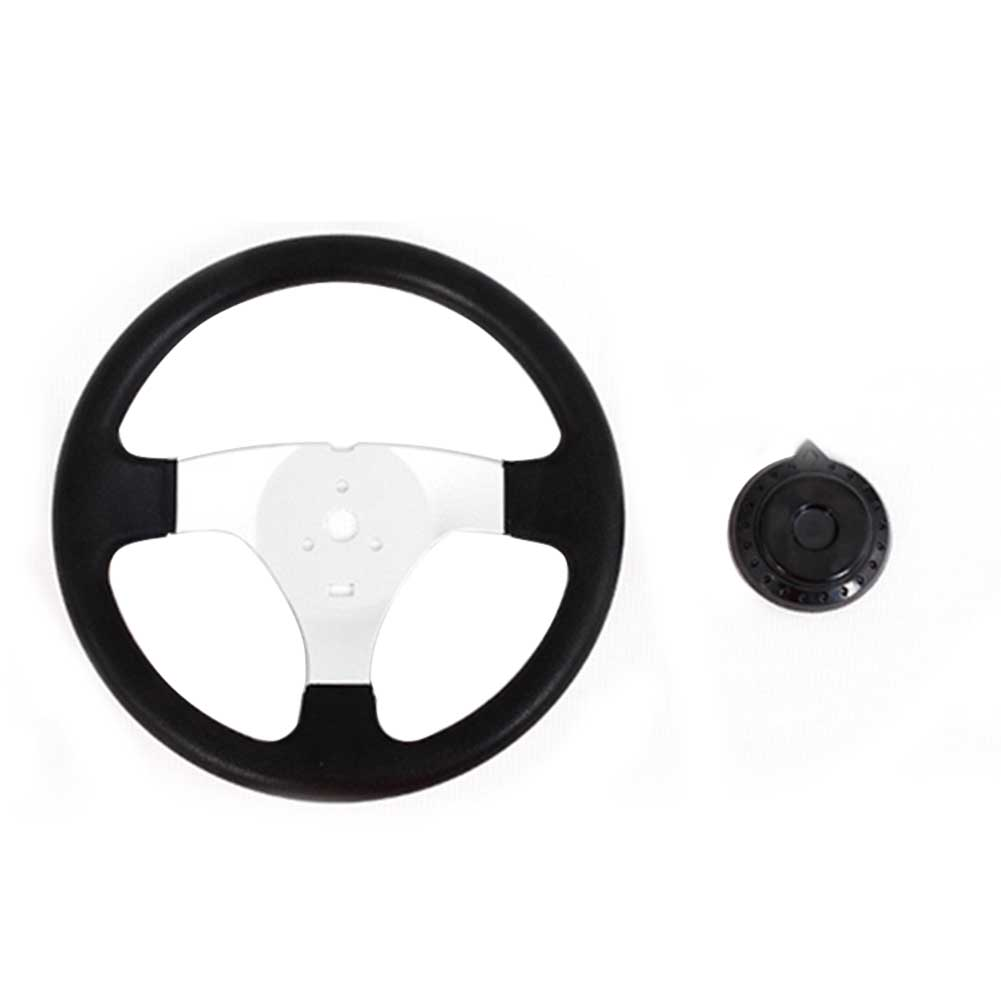 270mm Vehicle Steering Wheel Replacement Accessories Universal 3 Spokes PU Foam With Holes Interior Durable Classic For Go Kart