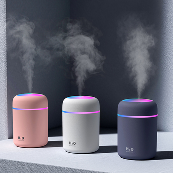 300ml Color Cup USB Air Humidifier Ultrasonic Aroma Diffuser Car Mist Maker with 7 Colors LED Lights Mini Office Purifier - discount item  48% OFF Household Appliances