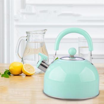 1PC niemagnetyczny czajnik brzmiący czajnik pogrubienie bojler czajnik kolorowy gwizdek gorący czajnik pojemnik na wodę losowy kolor tanie i dobre opinie CN (pochodzenie) STAINLESS STEEL Ekologiczne CE UE 1 x Stainless Steel Kettle