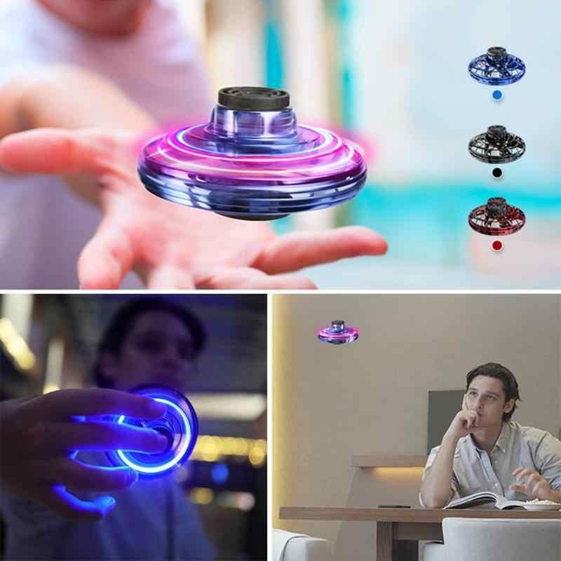 Mini Dron RC con Sensor OVNI, giroscopio volador para niños, iluminación de inducción, juguetes de aviones, vuelo de bola inteligente, inducción de bolsillo