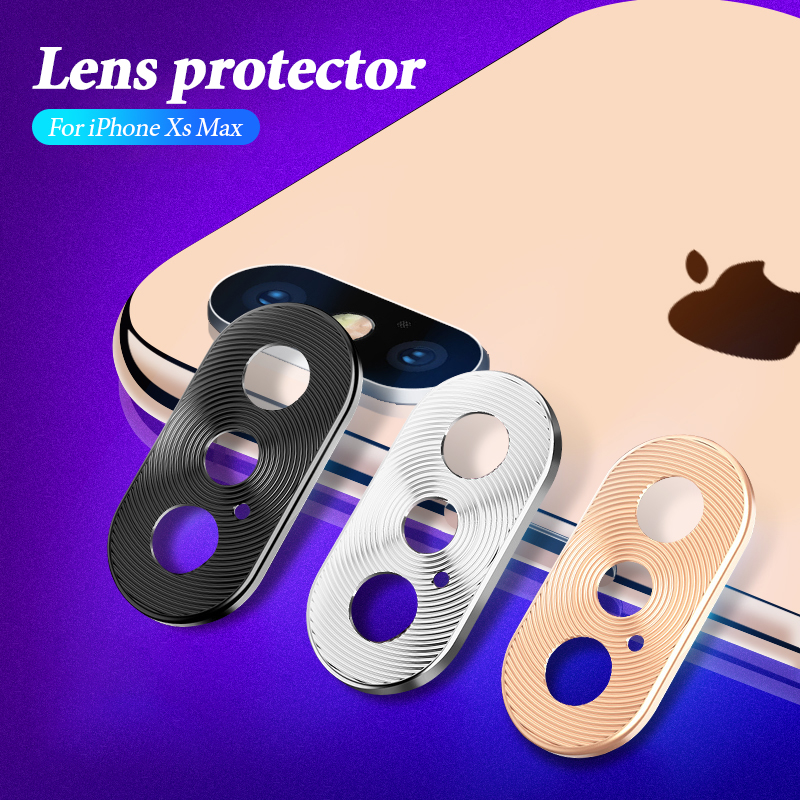 Metal Camera Lens Protector Case For Iphone XS Max XR XS 7 8 Alloy Camera Lens Protective Cover For Iphone X 7 8 Plus Case