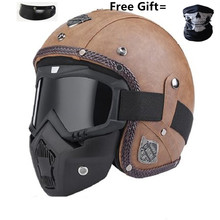 professional Retro Motorcycle helmet Goggle Mask Vintave mask open face cross available DOT approved