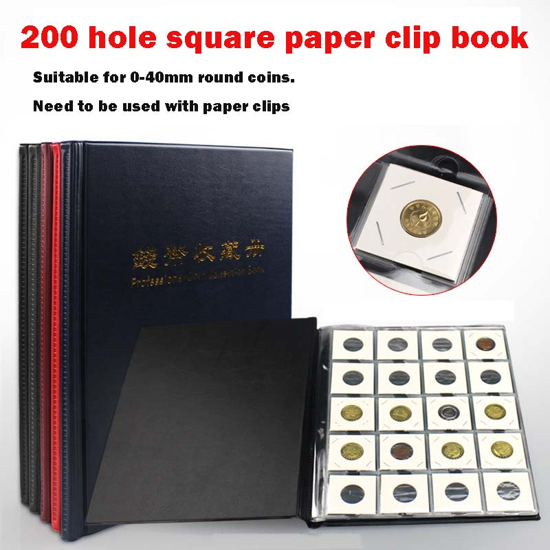 PCCB High Quality Put 200 Pieces/Coins Album For Fit Cardboard Coin Holders Professional Coin Collection Book