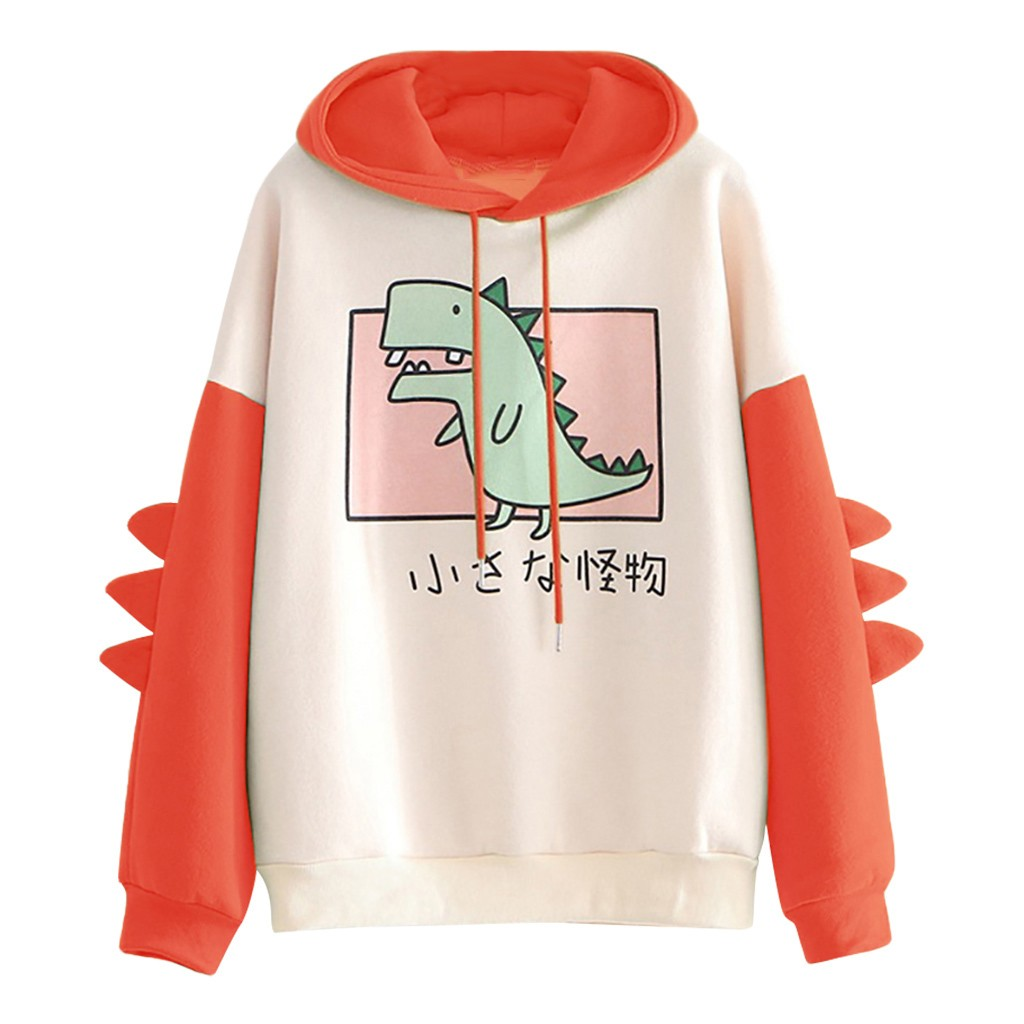harajuku aesthetic bear anime hoodie women korean kawaii crewneck long sleeve oversized fall winter clothes kpop streetwear tops 7