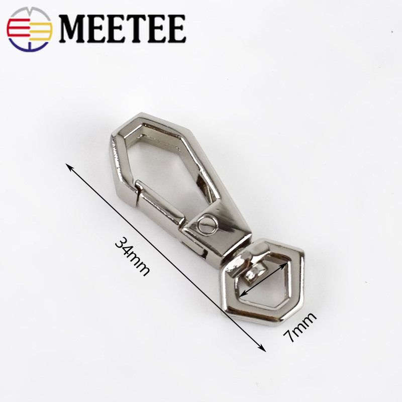 10 20pcs 7mm Metal Buckles for Bag Cat Dog Collar Lobster Clasps Swivel Snap Hooks for Backpacks Straps KeyChain DIY Accessories in Buckles Hooks from Home Garden