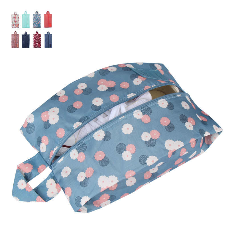 Portable Waterproof Travel Shoe Bag Nylon Storage Bag Stars Printing Pouch Convenient Storage Organizer Shoes Sorting Zipper