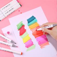 1 sztuk markery dotykowe kolor Marker do szkicowania długopis podwójne porady długopisy alkoholowe dla artysty Manga markery dostaw sztuki szkoły cheap CN (pochodzenie) 125 kolorów lank 125 kolorów pudełko Art marker Luźne