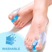 1 par dedos do pé separador ortopédicos pés osso polegar ajustador correção hallux valgus bunion corrector pedicure silicone straightener