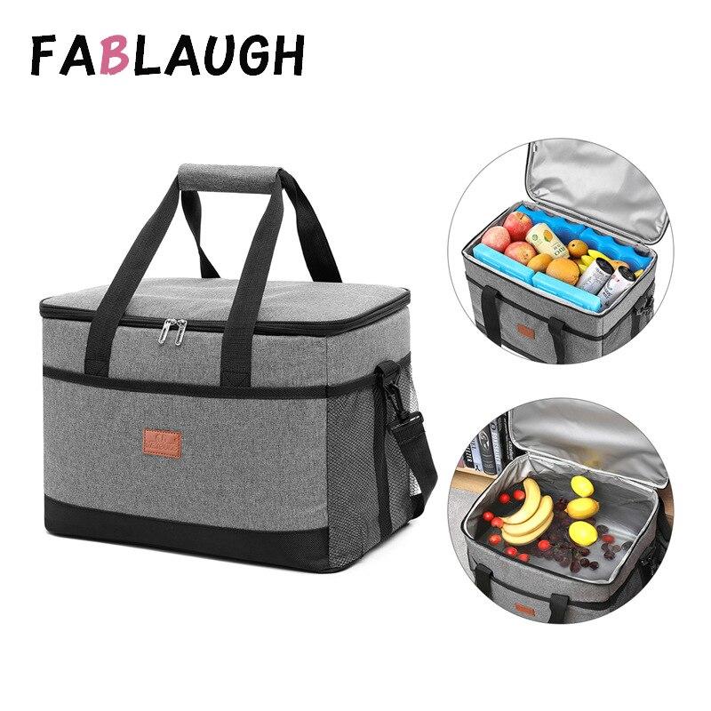 Bolsa de Piquenique ao ar Caixa de Almoço Loncheras para Fablaugh Grande Capacidade Isolado Térmico Refrigerador Almoço Livre Térmica Bolsa Loncheras para 33l
