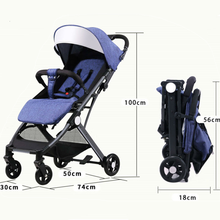 Baby Lightweight Stroller Can Sit And Lie 175 Degree Folding Umbrella Trolley Ul
