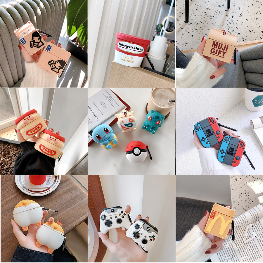 Cute Case For Airpods Case Cover Luxury Silicone Cartoon Fashion Cover For Apple Airpods 1 2 Case For Airpods Earphone Cover