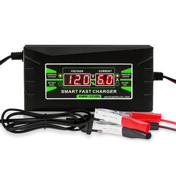 12v LCD Display Car Battery Charger Fully Automatic Smart PWN Fast Charging For Lead Acid Battery For Car Vehicle Motocycle image