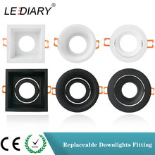 Lediary Spot Downlight Montage Wit Zwart 6 Type 75 Mm 90 Mm Cut Gat Plafond Inbouwspot GU10 Vervangbare Downlight frame(China)