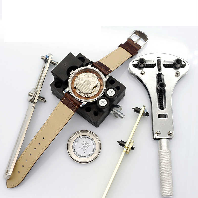 Watch Repair Tools Waterproof Screw Adjustable Case Back Remover Opener Wrench Remover Steel Watch Repair Tool Back Cover Opener
