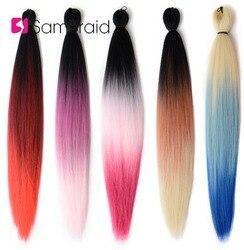 Samtresse EZ tresse synthétique tressage Extensions de cheveux pré-tendu rose Ombre Jumbo tresses Crochet cheveux pour les femmes 24 pouces