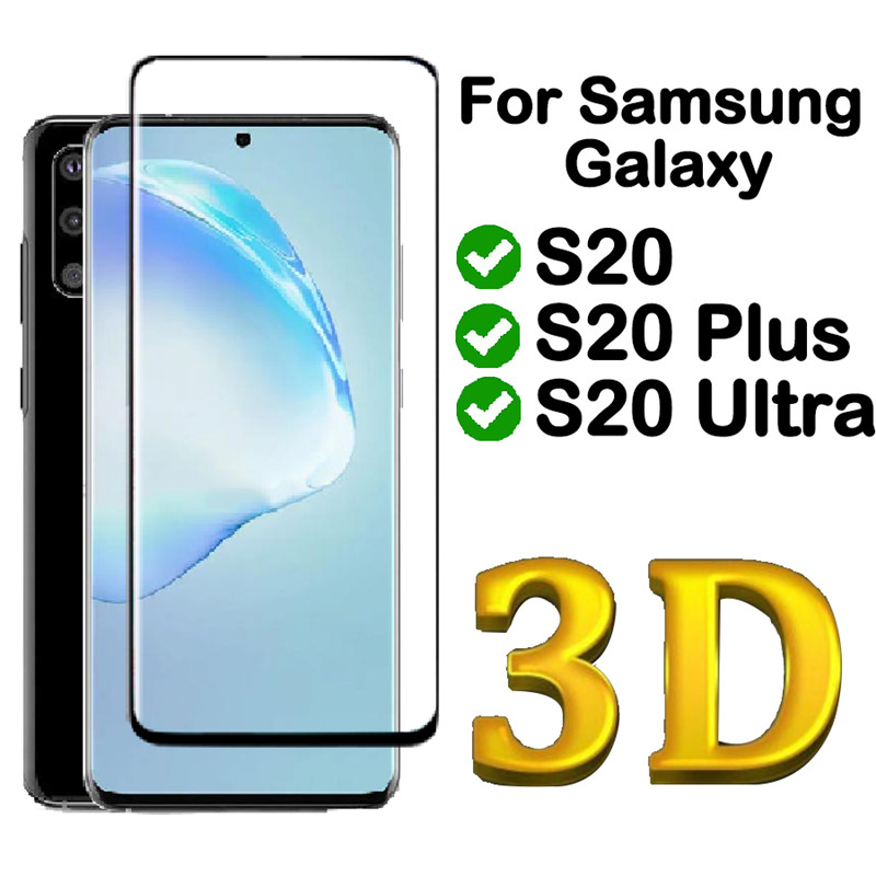 3D full cover Tempered Glas For Samsung Galaxy S20 ultra plus 20ultra Film skin Glass Screen Protector