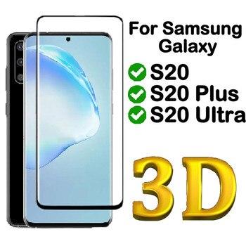 3d cobertura completa vidro temperado para samsung galaxy s20 ultra plus 20 ultra filme protetor de tela de vidro da pele