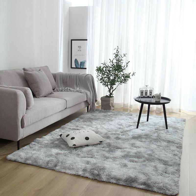 Fluffy Carpet Anti-skid Soft Rug For Bedroom Study Living Room Rug Corridor European Long Hair Room Carpet Mat Washable Blanket