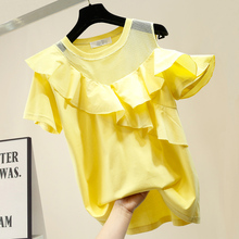 Women Summer T-shirt 2020 New Cotton T-shirt Solid Color Ruf