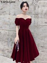 Бордовые коктейльные платья 2020 красные короткие с открытыми