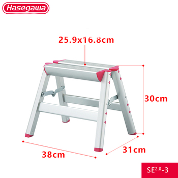 new 15 5ft step platform multi purpose all rustproof aluminum alloy folding scaffold step ladder for commercial use tool Hasegawa household Step stool pink multifunctional Japanese Aluminum alloy step ladder folding lightweight ladders SE