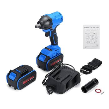 188TV Electric Cordless Brushless Impact Wrench Torque Drill Tool W/ 2x 25000mAh фото