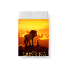 The Lion King Bed Sheet Bed Linen Poplin Cotton Posciel Edredones De Cama Couple Single Euro Kids Twin Xl Bedding Child Queen 3D(China)