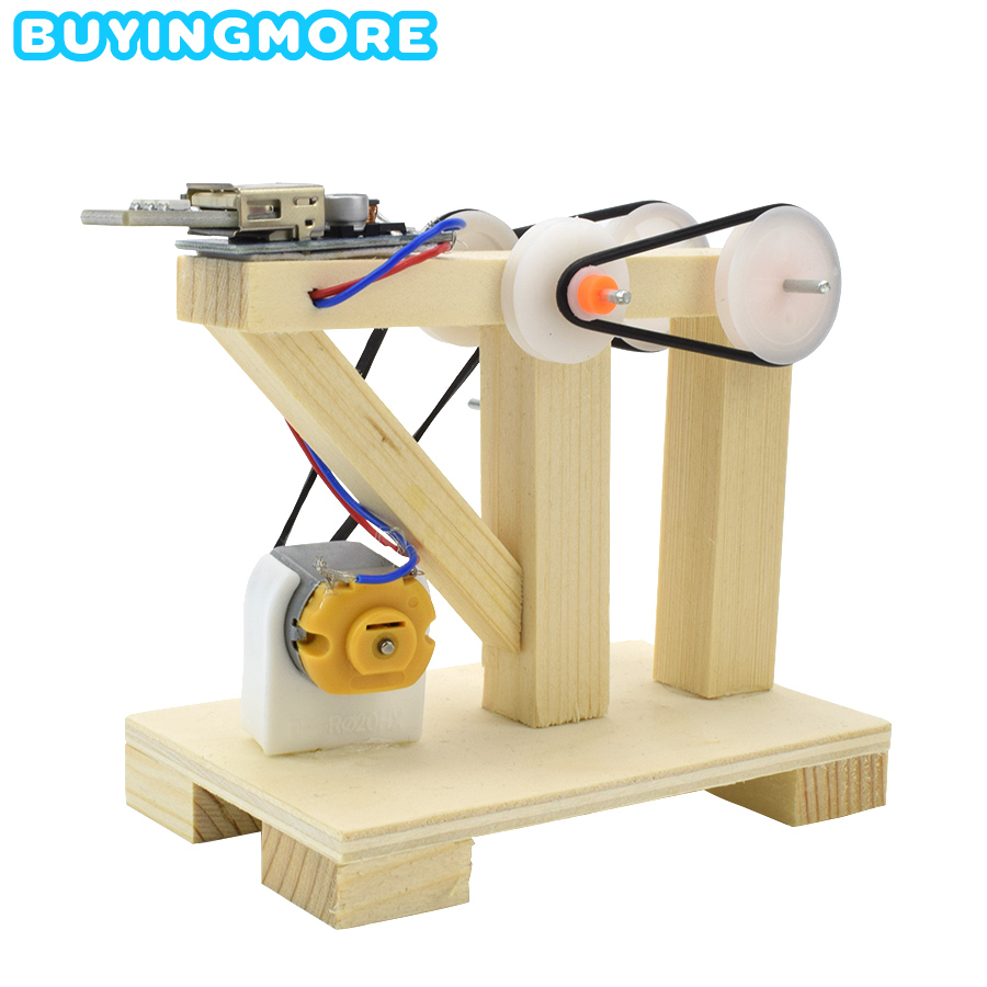 DIY Assemble Toys Manual Generator Model Kits Wood Educational Toys For Kids Invention Science Physic Experiment Dynamo Toy Gift