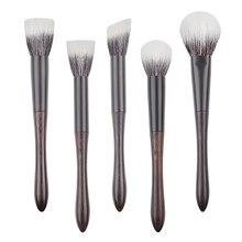 Q2 13 profesjonalne ręcznie robione pędzle do makijażu miękkie Sokouhou kozie włosy wielozadaniowe Stippling róż do konturowania pędzel Ebony pędzel do makijażu