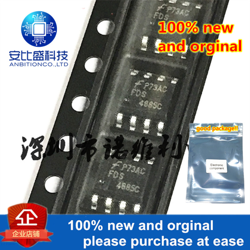 10pcs 100% New And Orginal FDS4885C 4885C SOP-8 N Dual N & P-Channel PowerTrench MOSFET In Stock