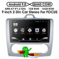 2 DIN de 9 pulgadas Android 9,0 navegación GPS pantalla táctil Quad-core Radio del coche para enfoque Ford Exi AT2004 2005, 2006, 2007, 2008, 2009-2011