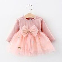 Keelorn Baby Mädchen Prinzessin Kleid Süße Frühling Bogen Kleidung Langarm Weihnachten Bettwäsche Kinder Kleid Casual Mädchen Herbst Vestidos